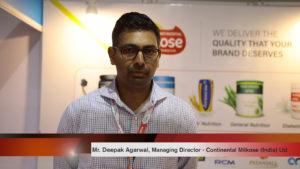 Mr. Deepak Agarwal, Managing Director, Continental Milkose (India) Ltd.