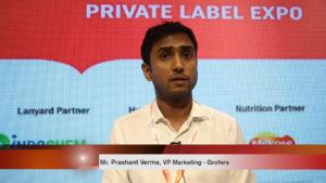 Mr. Prashant Verma, VP Marketing, Grofers