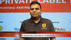 Mr. Saurabh Bohra, Senior Director Grofers Brands